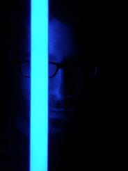 Con el sable laser de la Wii en acción
