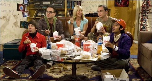 Howard, Leonard, Penny, Sheldon y Rashid