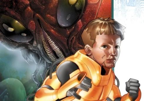 Arte del cómic de Marvel para El juego de Ender