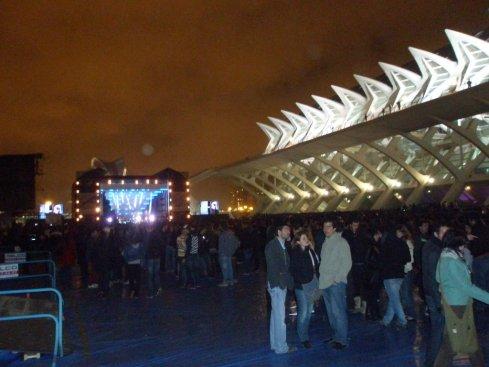 El recinto del concierto al llegar