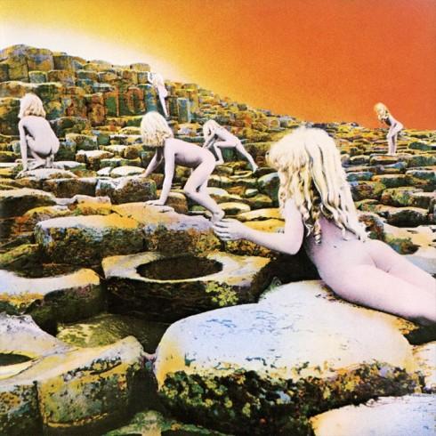 Portada del disco Houses of the Holy, de los Led Zeppeling, inspirada en la novela El fin de la Infancia