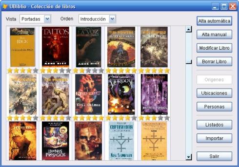 Nueva visión ampliada de portadas de libros
