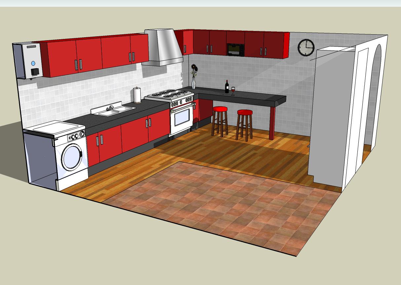 Encantador Google Sketchup Cocina De Diseño Descarga Composición ...